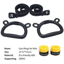 Home Fitness Training Pull Ring 1 With Adjustable Strap Child Adult Gymnastic Ring