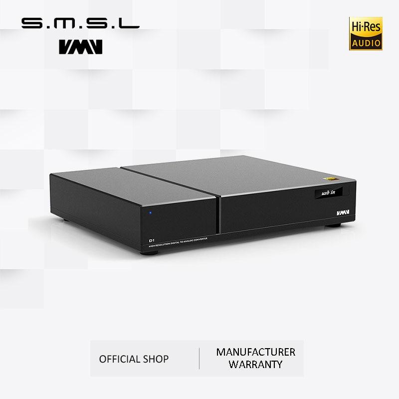 SMSL VMV D1 puces DAC pur haut de gamme 2 * ES9038 PRO haut de gamme PCM768 DSD512 XMOS prise en charge optique coaxiale entrée USB sortie RCA XLR