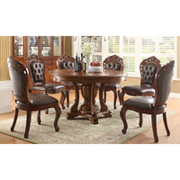 Classic dining room set round dining table set table and chairs WA648