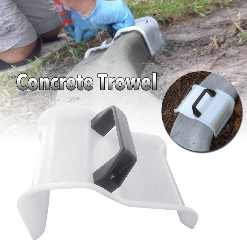1pcs Plastic Plastering Trowel Concrete Trowel Construction Tools With Handle Masonry Hand Trowels For Garden Yard Landscapes A