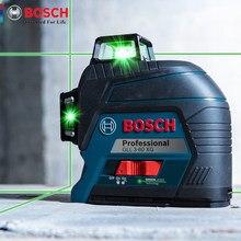 Linea di proiezione verticale e orizzontale verde dello strumento di misura del livello 12 del Laser di Bosch GLL3-60XG per la decorazione domestica all'aperto