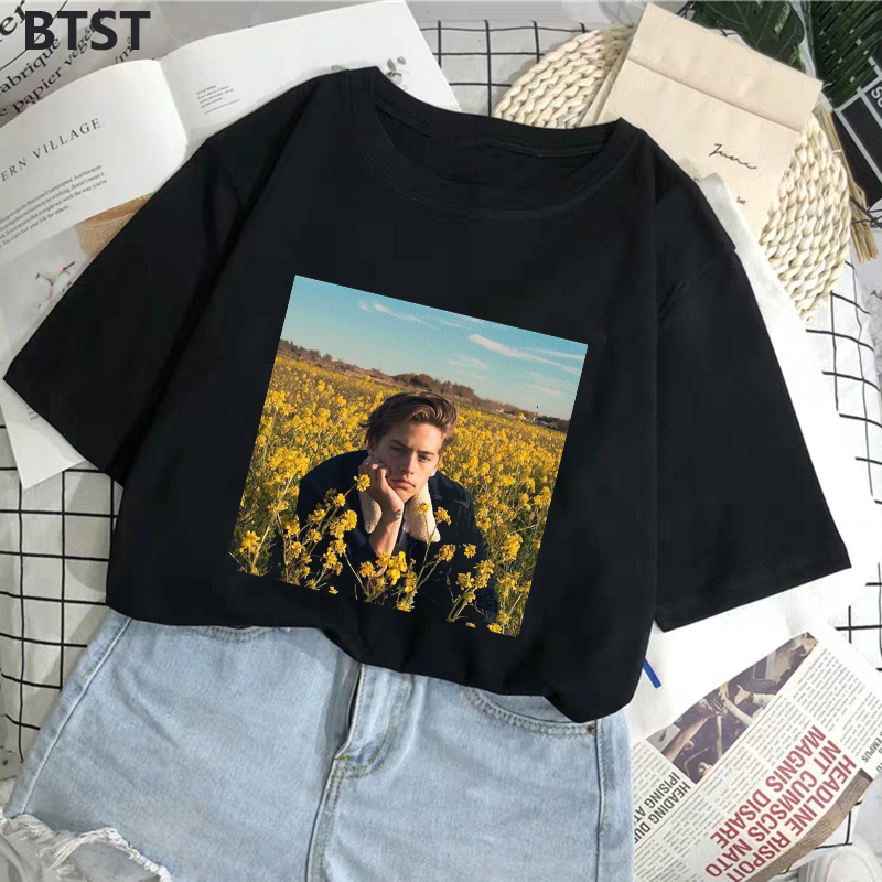 Graphic Tees Women Riverdale Print Harajuku Black Women Clothes 2019 Polyester Streetwear Short Sleeve T Shirt Women Punk Tops