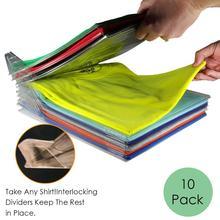 10 шт одежды складные доски стеллаж для хранения одежды органайзер для одежды стек Футболка Блузка органайзер Инструменты против морщин