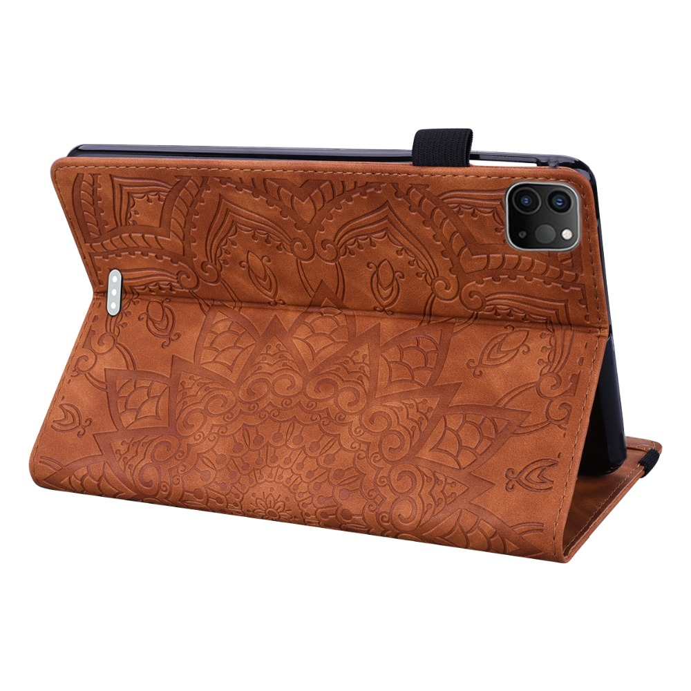 Embossed Flower iPad Case For 12.9 Leather 3D Cover Folding Pro 4th Generation 2020