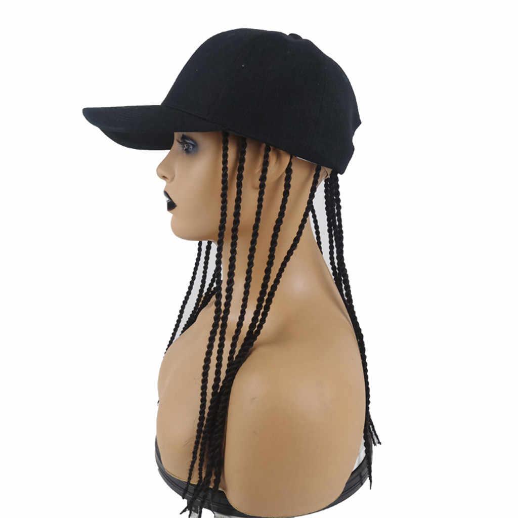 Baseball Hat with Synthetic Hair Dirty Wigs Unisex Hair Rope Hair accessory korean style headbands Hip-hop Hat Hair Dreadlocks