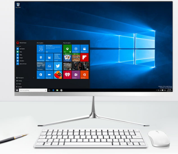 AIO WIFI Desktop Computer PC With CPU I7 RAM 16GB 1TB And 24'' Inch FHD Lcd Monitor