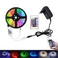 SMD RGB Светодиодные ленты Light 5050 3528 10 м 5 м светодиодные rgb светодиодов ленты светодиод лента Гибкая мини ИК-пульт DC 12 В адаптер Комплект