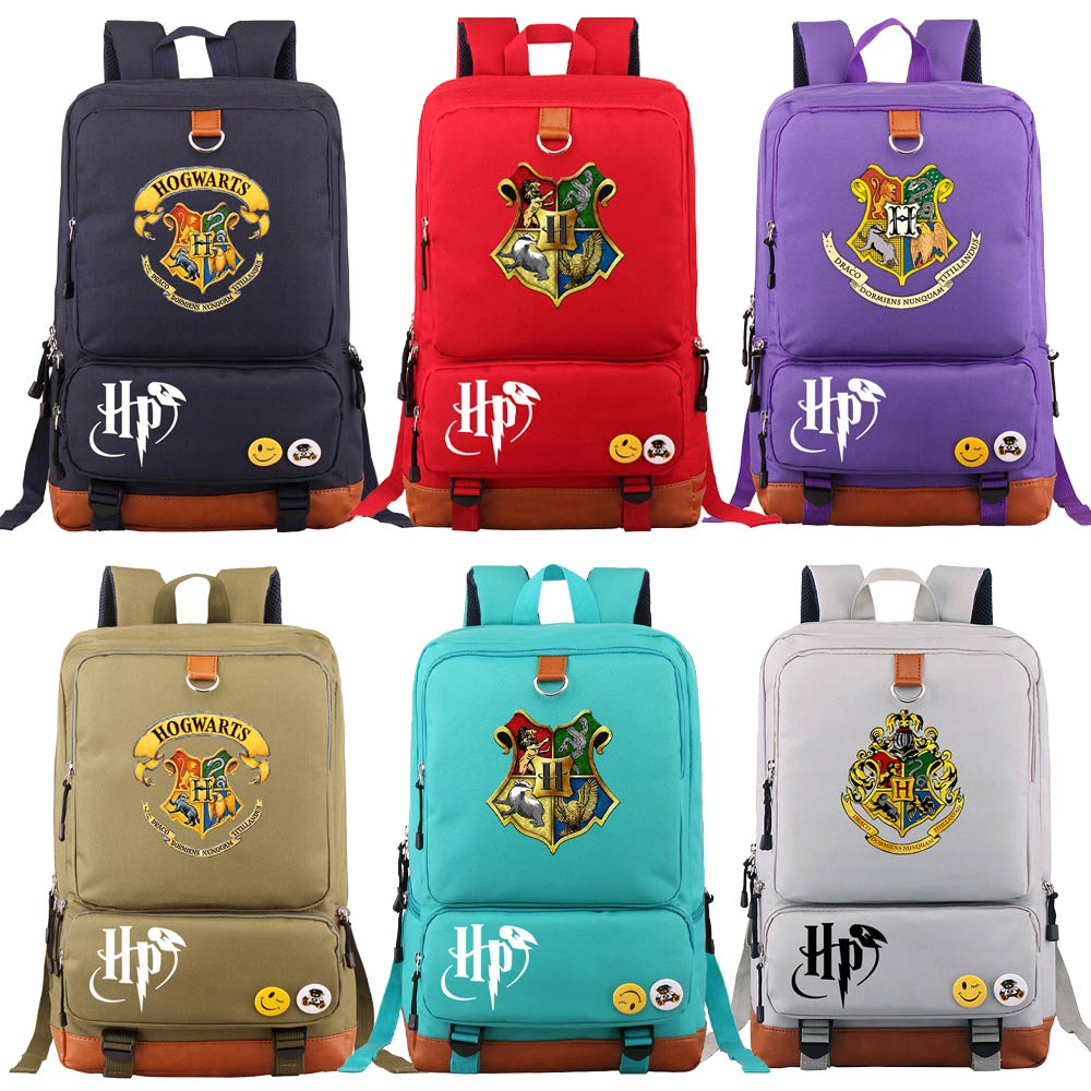 D0302 Magic School Snake Lion Eagle Boy Girl Book School Bag Women Bagpack Teenagers Schoolbags Men Student Patchwork Backpack