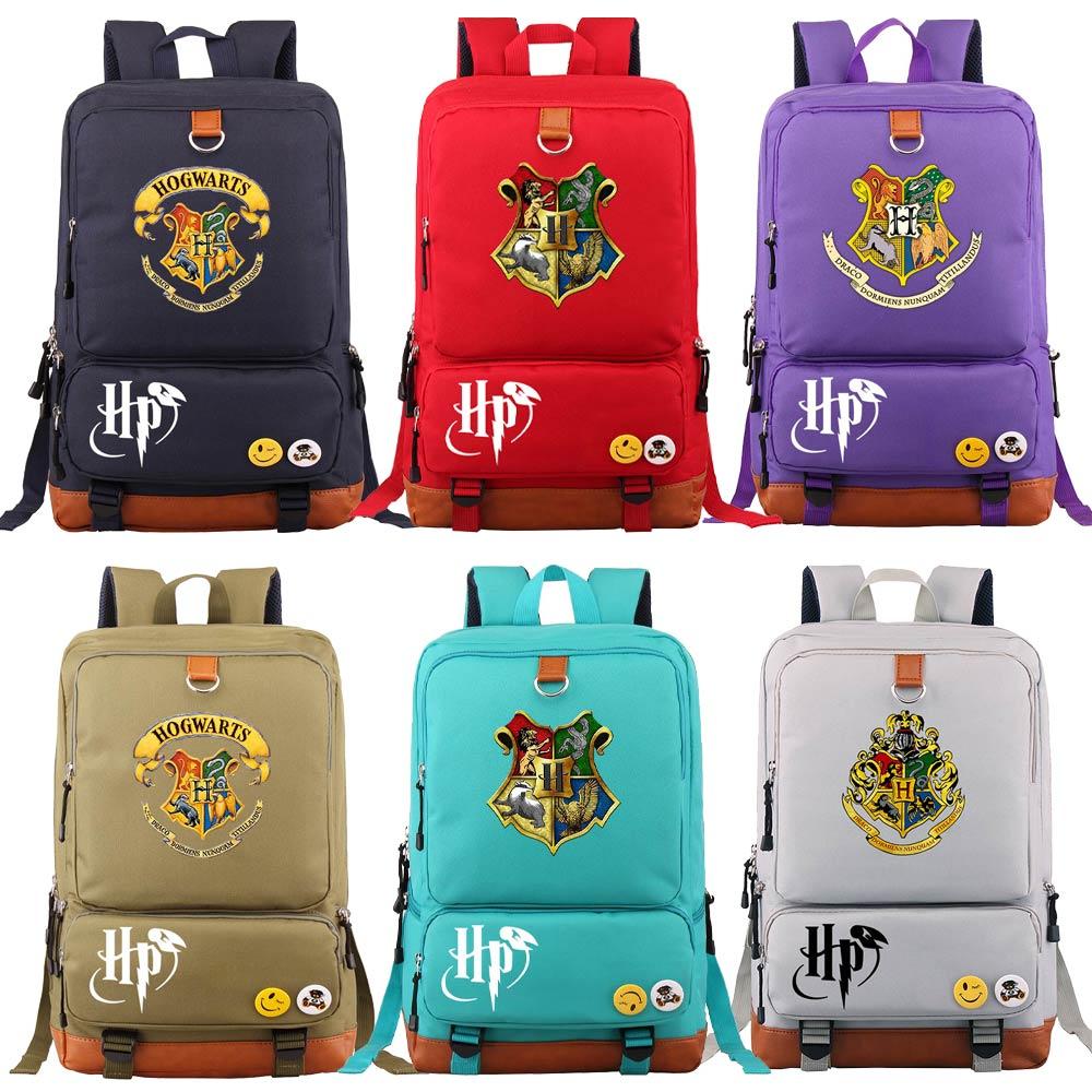 D0302 Magic School Snake Lion Eagle Boy Girl Book School Bag Women Bagpack Teenagers Schoolbags Men Student Patchwork Backpack