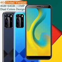 Versão global 4g lte nota 9t 64gb rom 4gb ram quad core smartphones android telefones celulares face id desbloqueado barato celulares 13mp