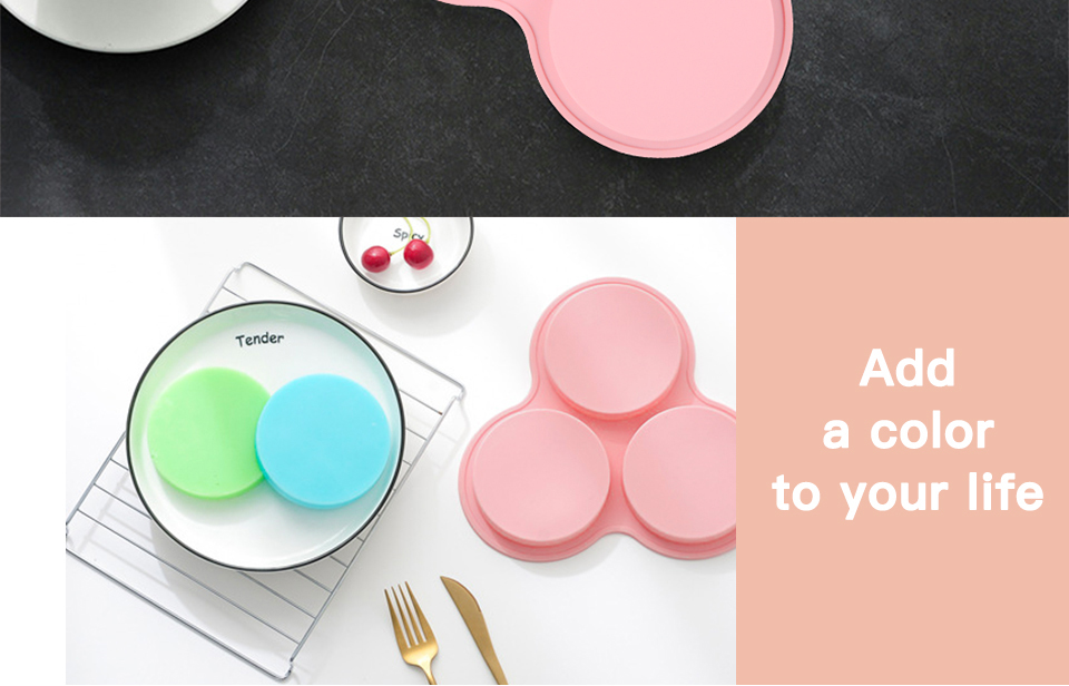 1SILIKOLOVE New 3D Round Silicone Candy Molds Cake Decorating Tools Silicone Mold Chocolate Mold_04