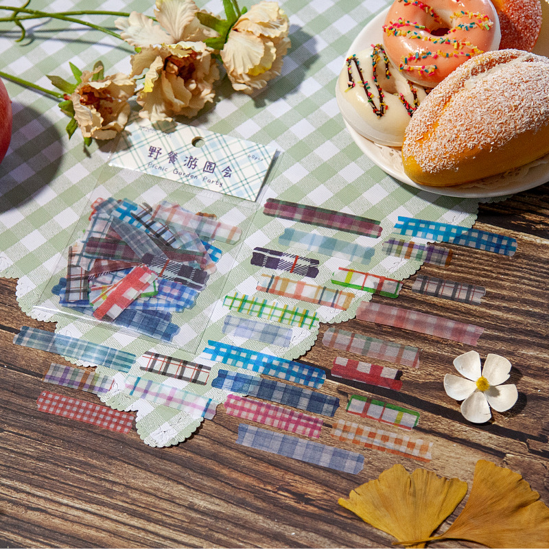 60pcs/1lot Kawaii Stationery Stickers Picnic Garden Party Diary Decorative Mobile Stickers Scrapbooking DIY Craft Stickers