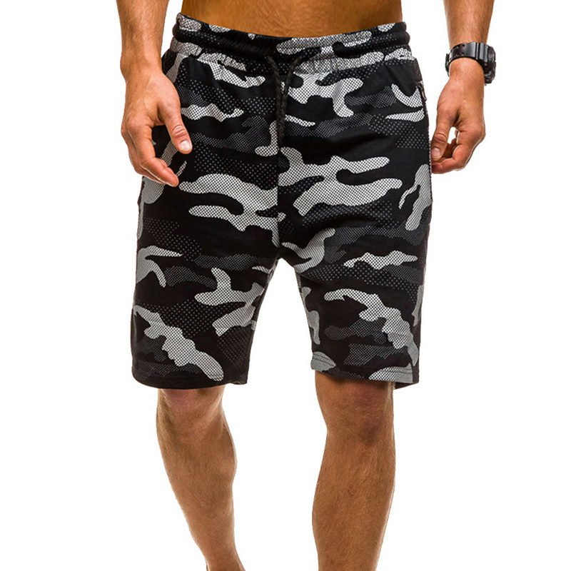 2020 Men Shorts Fashion Camouflage Printed Shorts Men Camo Sporting Joggers  Elastic Waist Drawstring Fitness Short Pant