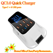 Smart Universal 8 Port USB Charger Quick Charge 3.0 Type-C Wall Mobile