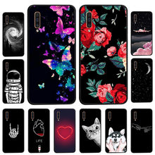 Black Silicone Case For Samsung Galaxy A50 Case For Samsung A10 A20 A40 A30 A6S A5 A6 Plus A2 Core A9 2018 A8 Star Bumper Fundas(China)