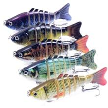 1PC Fishing Lure Bait Fish Bionic Bait Eyes 7 segment Tweeter Fishing Lure 10cm 15.5g Trolling Fishing Tools