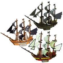 3d деревянный корабль головоломки игрушки обучения здание паром