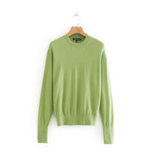 Pullover Sweater Autumn Women Slim Solid Knitted Fashion Sweaters Jumper Ladies Thin Tops