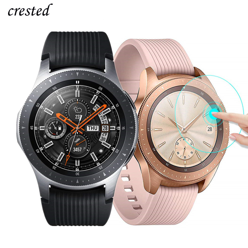 Glass For <font><b>Samsung</b></font> Gear <font><b>S3</b></font> <font><b>Frontier</b></font>/S2/Sport <font><b>Smartwatch</b></font> Film 3 42 46 mm Active2 Screen Protector Galaxy Watch 46mm/42mm/Active 2 image