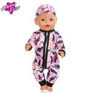Image 2 - New fashion Jumpsuits Fit For 43cm Zapf Born Baby Doll 17inch Born Babies Doll Clothes