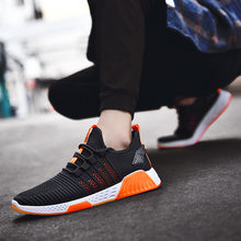 2021 new fashion sports shoes men's breathable woven men's shoes foreign trade cross border running shoes snakes men