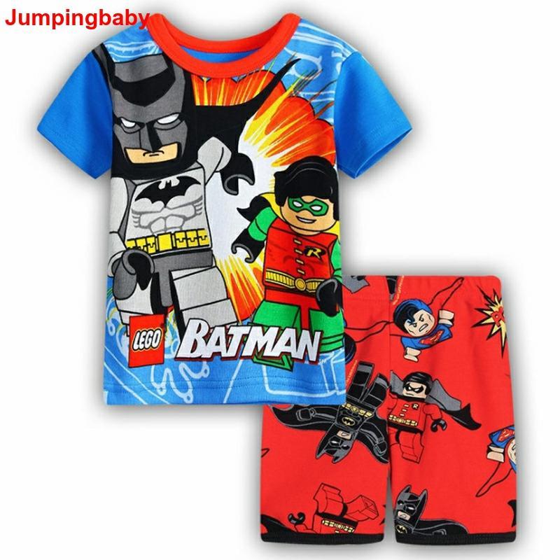 2019 garçons vêtements ensembles enfants survêtements été Conjunto Menino Spiderman Batman pyjamas Ensemble Vetement Enfant Ensemble Garcon nouveau