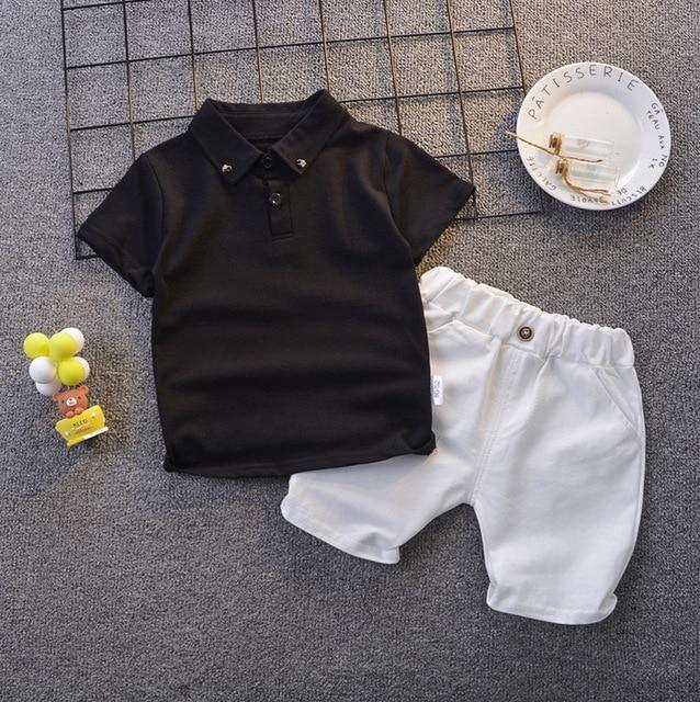 Pakaian Set Musim Panas Anak Lengan dan Celana Pendek 1