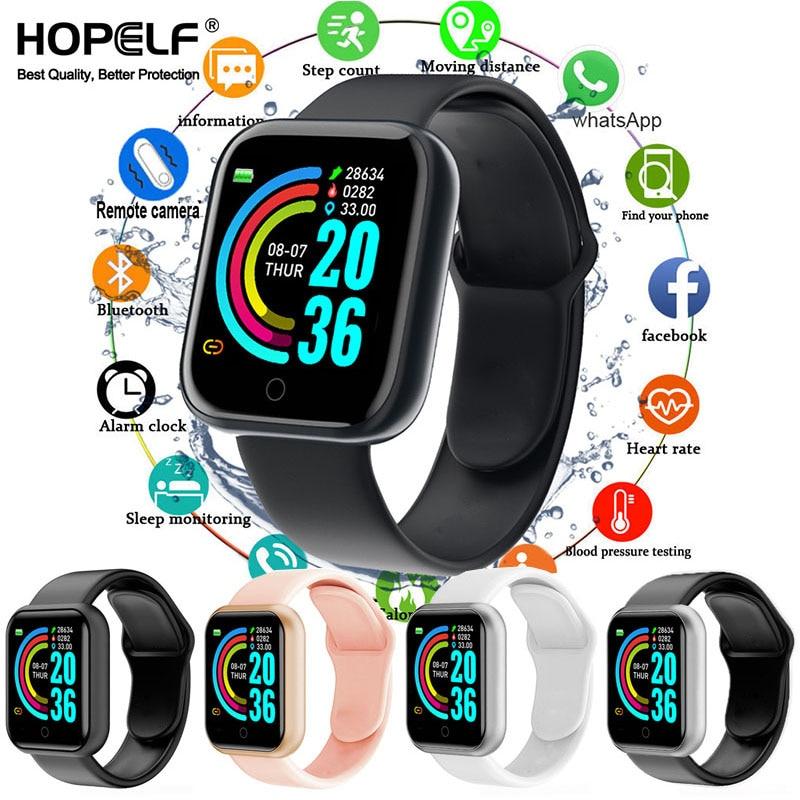 Smart watches 2020 Android smart watch men women kids smartwatch Bluetooth Heart Rate Monitor fitness watch smart connect 1