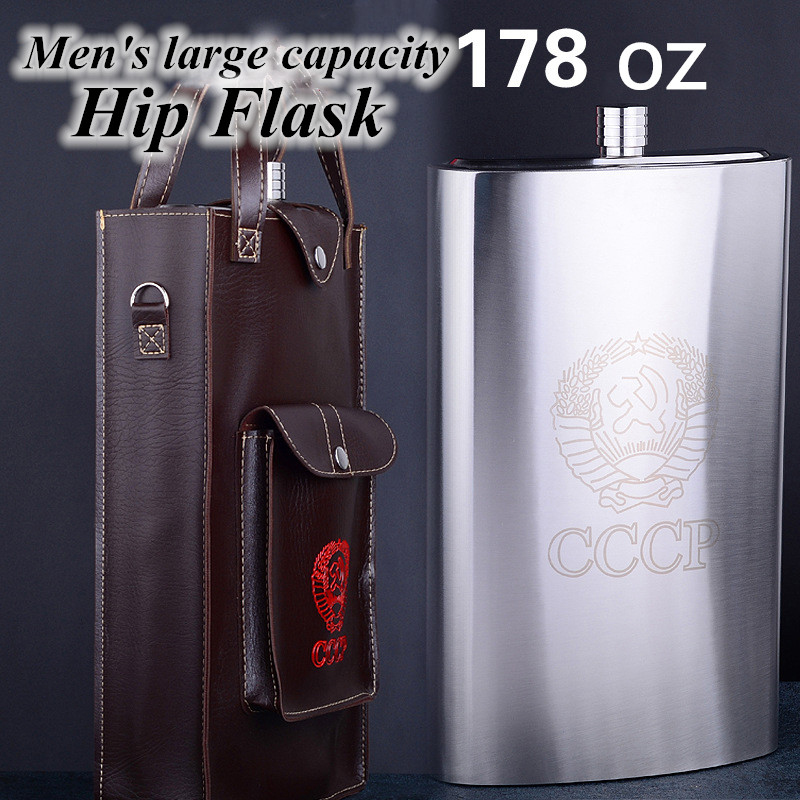 4 oz 178 oz Stainless Steel Hip Flasks Whiskey Pocket Hip Flask Screw Cap Outdoor Portable liquid container For Drinker Men Gift in Hip Flasks from Home Garden