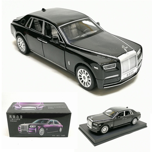 High simulation 1:28 Rolls Royce luxury 2019 car alloy model sound light pull back 6 door for boys toys free shipping