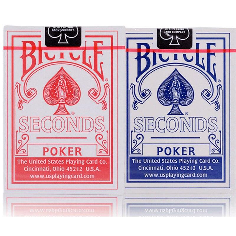 Bicicleta azul/vermelho poker nova bicicleta segundos jogando cartas piloto volta padrão decks cartões