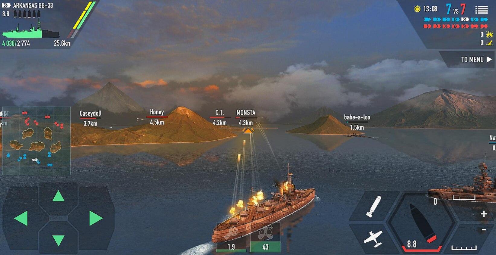 战舰激斗v1.71.4/魔玩助手破解版/无限货币