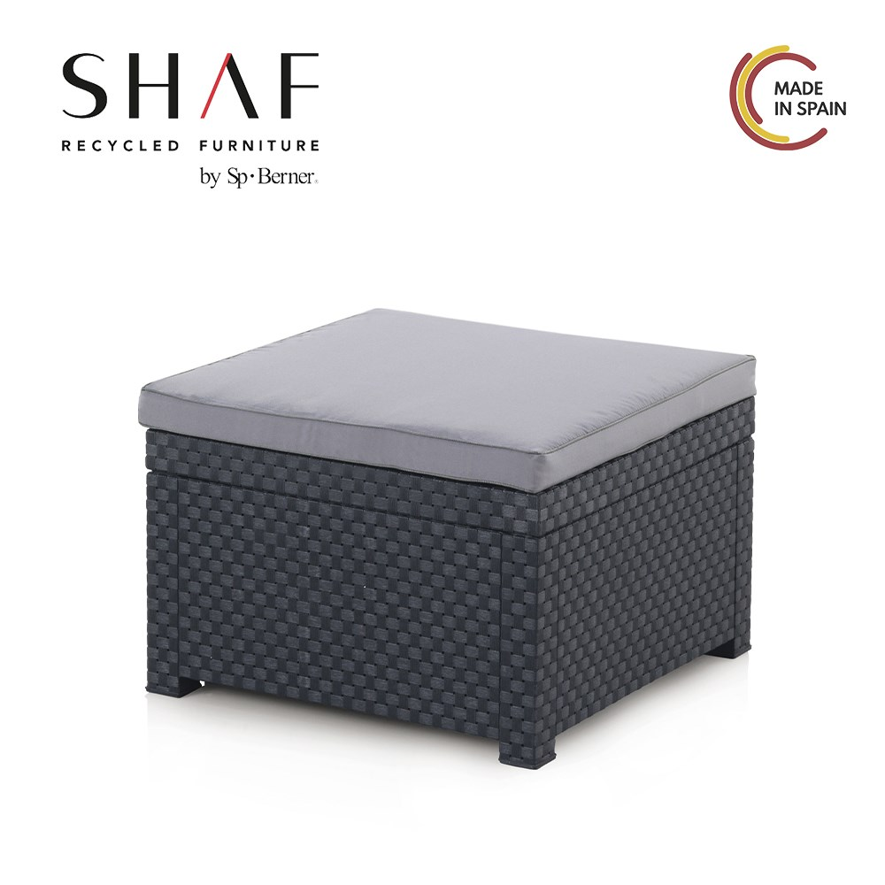 SHAF - Pouf Garden's DIVA Anthracite-up Seat Bean Bag Ideal For Combining With The Rest Your Lawn Furniture Garden