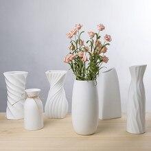 Nowe mody biały ceramiczny kwiat dekoracji domu z wazonem ceramiczne małe światło dekoracji domu