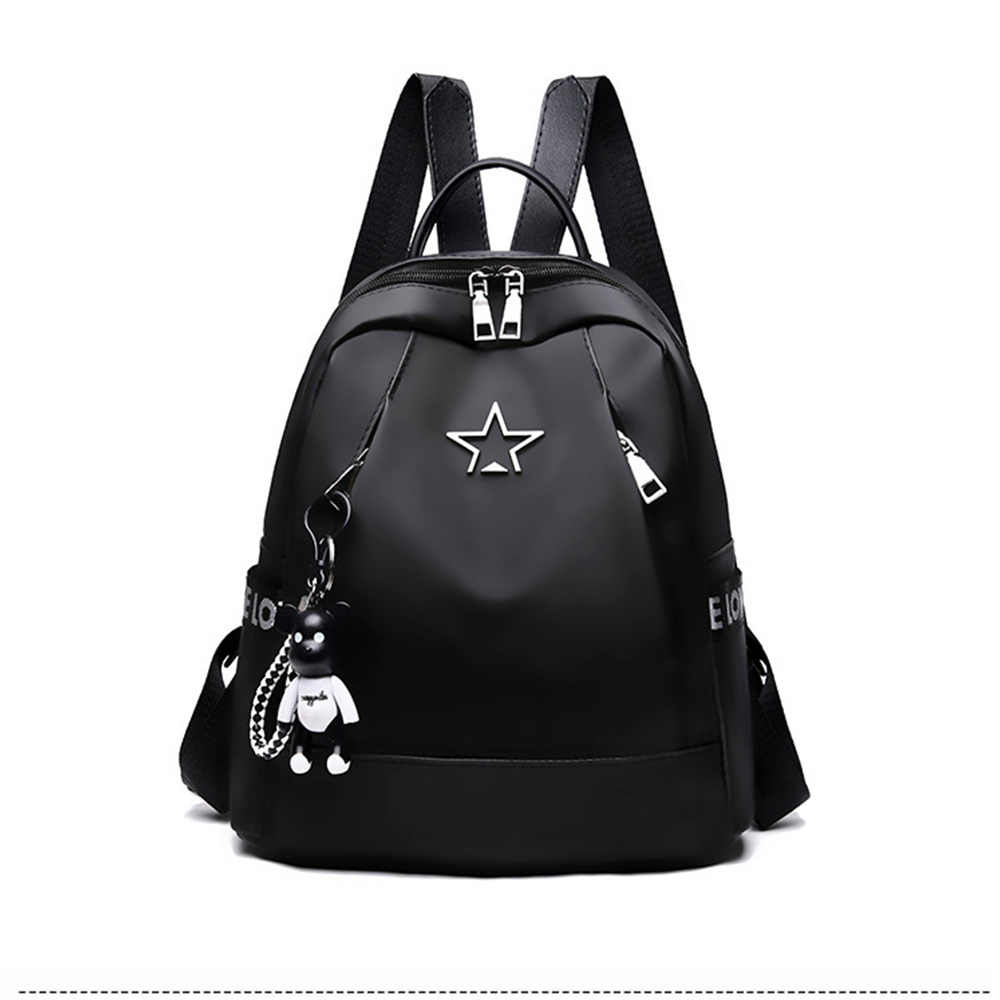 New Women's Backpack PU Leather Travel Shoulder Bag Shoulder Bag Girl Multifunctional Small School Backpack For Women Black