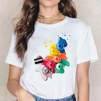 Camiseta estampada de manga corta en 3D para mujer, ropa de mujer,...
