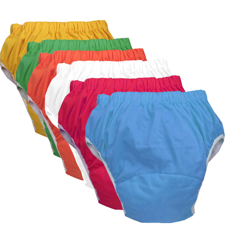 Waterproof Older Children Adult Cloth Diaper Cover Underwear Nappies Washable Adult Diapers Knickers Incontinence Briefs ABDL