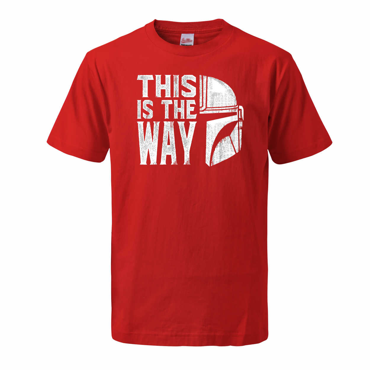 Männer Die Mandalorianer T Shirts 2020 Sommer Tops Tees Baumwolle Kurzarm Star Wars Das Ist Mein Weg Streetwear Crew neck T-shirts