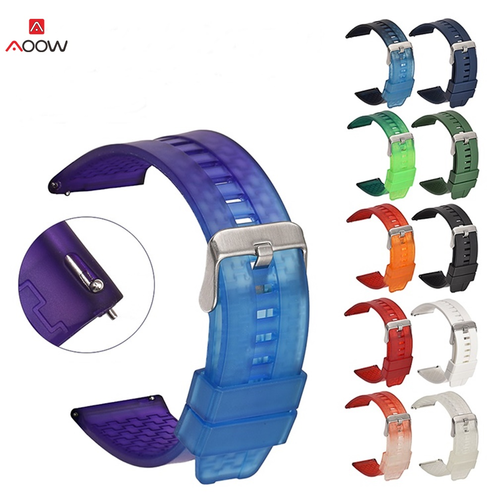 22mm Rubber Watchband for <font><b>Samsung</b></font> <font><b>46mm</b></font> Quick Release Strap Watch Bracelet for Gear S3 Huawei GT <font><b>46mm</b></font> /HONOR Magic Strap Band image