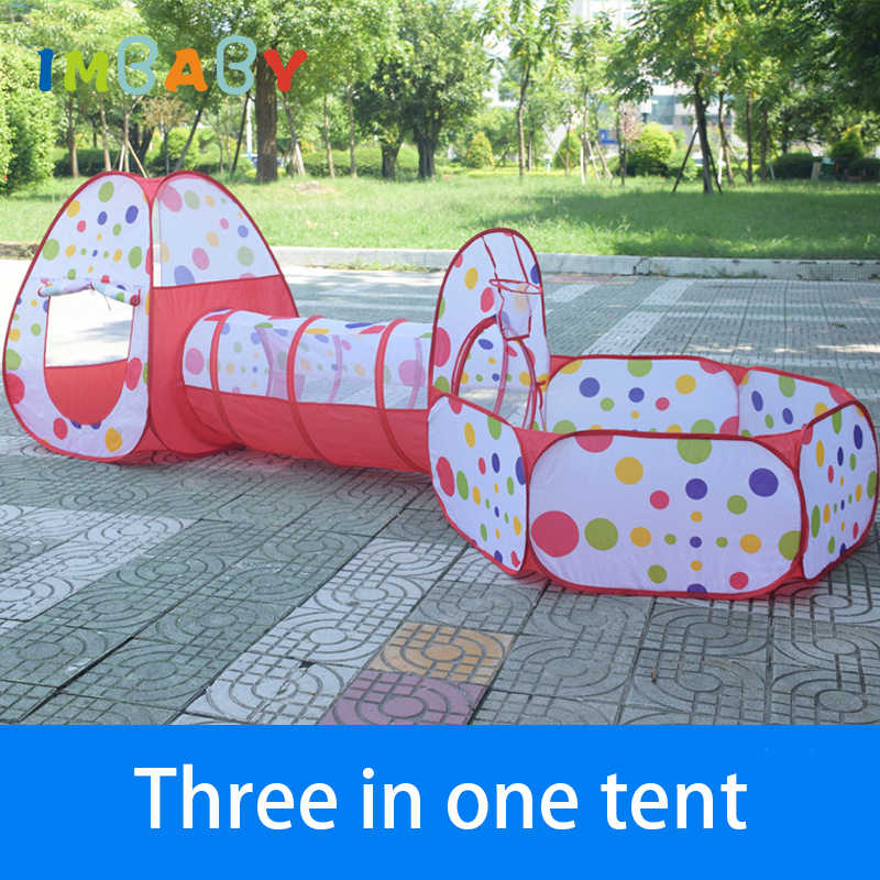 IMBABY 3 In 1 Baby Laufstall Für Kinder Kinder Ball Pit Laufstall Tragbare Babys Zaun Für Neugeborenen Spielen Yard Zelt tunnel Mit Korb