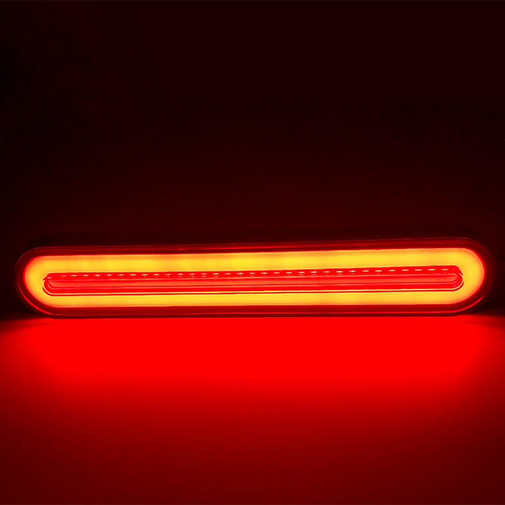 Image 4 - 2x Waterproof LED Trailer Truck Brake Light 3 in1 Neon Halo Ring Tail Brake Stop Turn Light Sequential Flowing Signal Light Lamp-in Truck Light System from Automobiles & Motorcycles