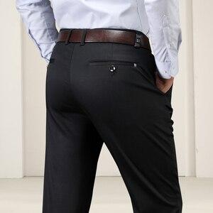 Image 4 - Большие размеры 40, 42, 44, зимние мужские теплые повседневные штаны, высокое качество, хаки, 97.5% хлопок, обычные Стрейчевые плотные брюки, мужские брендовые