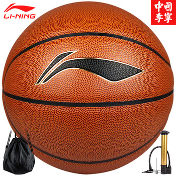 Li Ning No. 7 No. 5 Classic Game Series Basketball High Elasticity Sweat Absorbent PU Wearable цена 2017