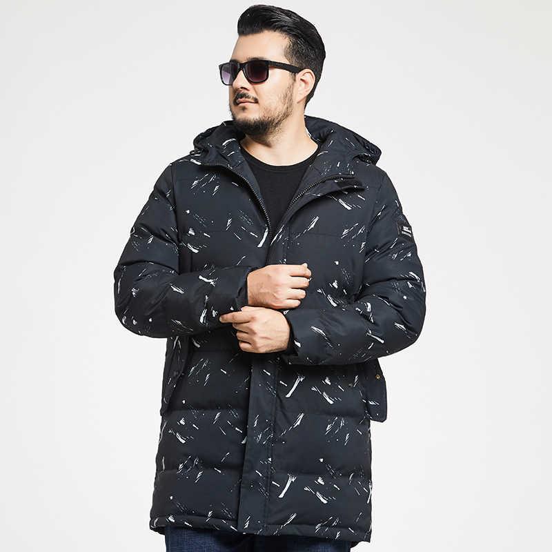플러스 사이즈 8xl 위장 파카 남성 겨울 롱 자켓 남성 두꺼운 코튼 패딩 자켓 남성 파카 코트 남성 패션 캐주얼 코트