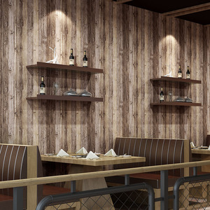 Image 1 - Beibehang木材壁紙リビングルームの装飾用衣料品店レストラン茶室エンジニアリング 3Dの壁紙紙