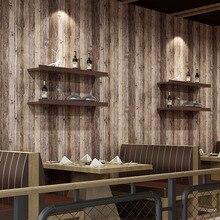 Beibehang tapety z drewna do dekoracji salonu do sklepu odzieżowego herbata w restauracji dom inżynieria 3D tapeta na ścianę