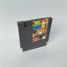 Zombie nation para 8 bits game console 72 pinos cartão de cartucho de jogo