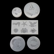 Ocean Shell Crab Boat Planet Moon Star Pendant Resin Silicone Mold Jewelry Tools