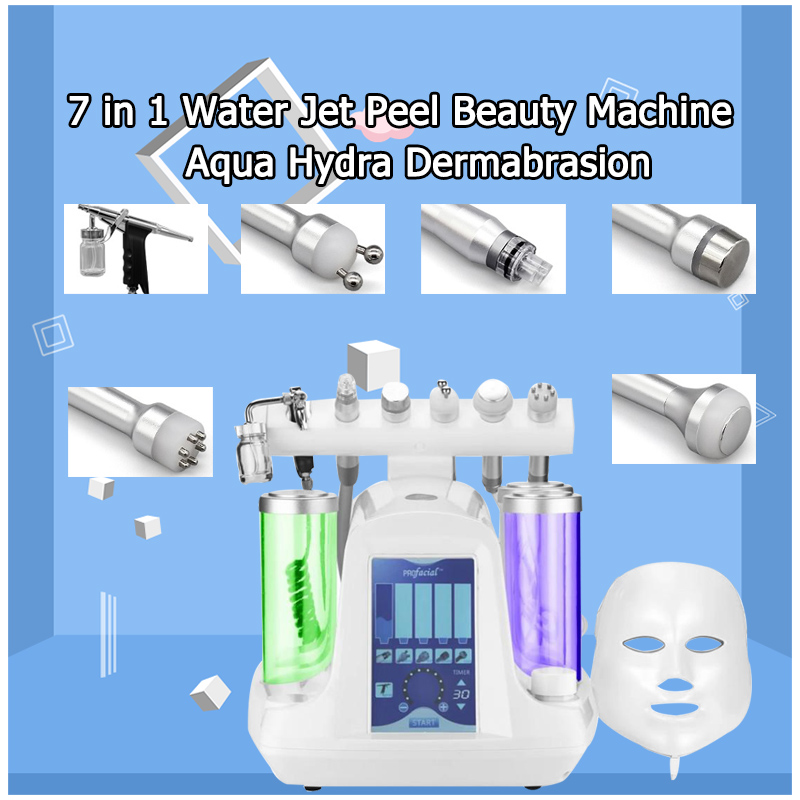 2019 Hot Sale Hydra Facial Machine 7 In 1 Galvanic Cooling Oxygen Hydro Machine For Skin Rejuvenation Cleansing Skin Peeling