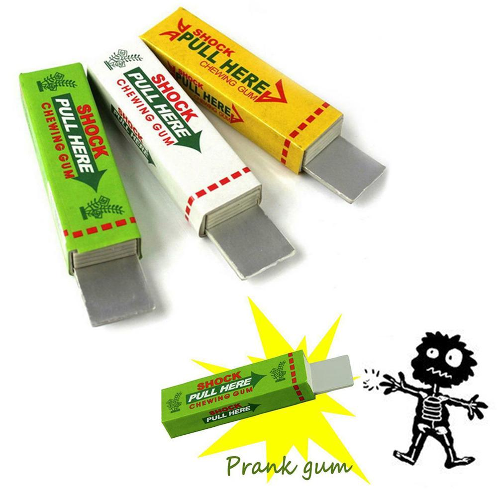Funny Electric Shocking Shock Chewing Gum Toy Mud April Fool's Tricks Joke Gadget Practical Pull Head Game Spoof Toys